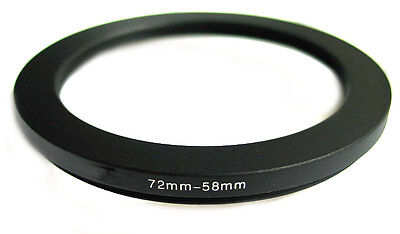 Step-down adapter ring 72-58 72mm-58mm Anodized NEW for Camera, from US Seller!