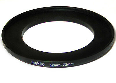 Step-up adapter ring 52-72 52mm-72mm Anodized Metal NEW for Camera New US Seller
