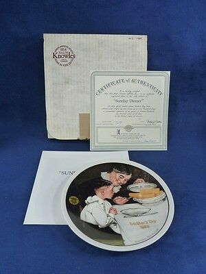 Knowles Norman Rockwell Plate Sunday Dinner (116)