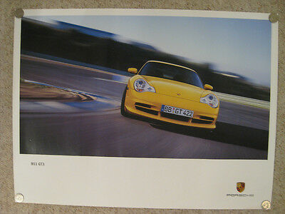 2002 / 2003 Porsche 911 GT3 Coupe Showroom Advertising Sales Poster RARE Awesome