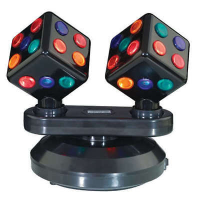 Dual Rotating Dice Disco Ball Light Double Sided