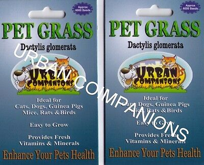 2 PET GRASS Packets with Approx. 12,000 seeds in total!  URBAN COMPANIONS