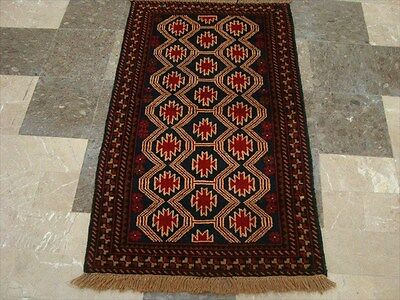 BALAUCHI TRIBAL NOMADIC AFGHAN HAND KNOTTED RUG 4.5x2.8