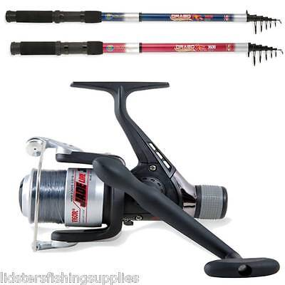 New Telescopic Lineaeffe Rod And Reel 7Ft 8Ft 10Ft 12Ft