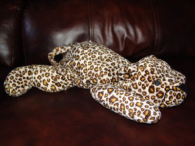 """1996 Ty Pillow Pals Speckles the Leopard Doll 14"""""""