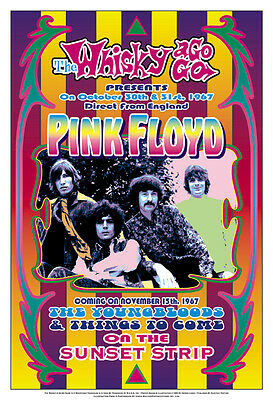 Pink Floyd at the  Whisky A Go Go Concert Poster 1967
