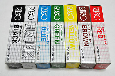 New Riso Print Gocco Paper Inks Regular 7 Colors