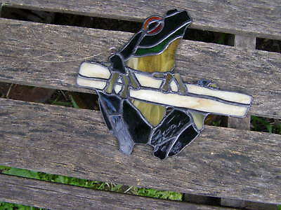 VINTAGE STAINED GLASS FROG SUNCATCHER