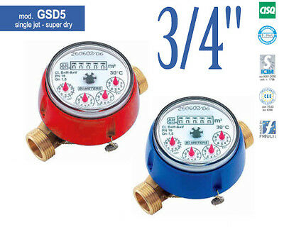 "NEW COLD or HOT WATER METER  GSD5 3/4"" 2,5m³/h 130mm"