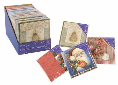 4 X 20 Pack of Christmas Paper Napkins  (PM126)