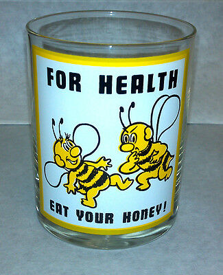 For Health Eat Your Honey Highball Glass New Excellent