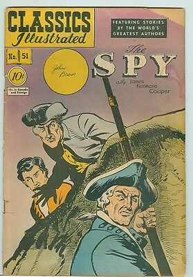 Classics Illustrated #51 The Spy by Cooper first print