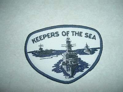 Military  Patch Us Navy Keepers Of The Sea Free Ship