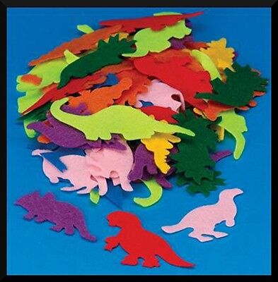 "10 Dinosaur Felt Shapes 2"" - 4"" Storyboard Felt Board Kids Boys Crafts ABCraft"