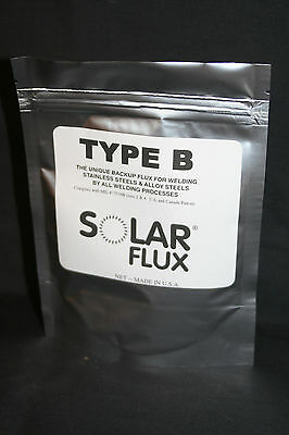 SOLAR FLUX TYPE B For Stainless Steel Welding, TIG MIG SMAW, FREE SHIPPING 8 OZ.