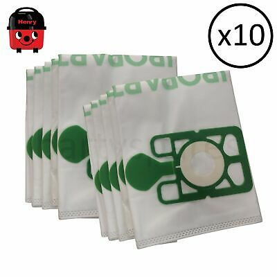 TEN  HEPAFLOW DUST BAGS FOR NUMATIC HENRY NVM-1CH NVM1CH VACUUM CLEANER hoover