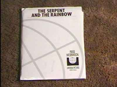 Serpent And  Rainbow Press Kit W/6 Photos Horror