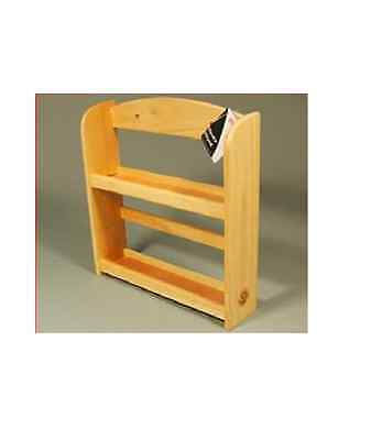 2 Tier Rubber Beech Wood Wooden Herb Spice Rack Holder Stand Wall Mounted 9221