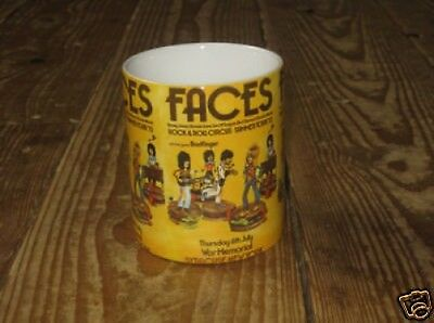 Rod Stewart The Faces Concert MUG Yellow