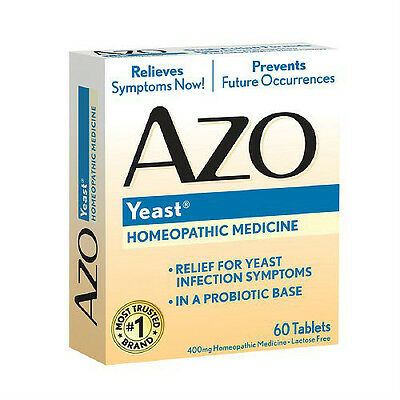 AZO Natural Yeast Plus Prevention Tablets 60 CT