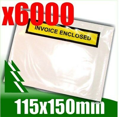 6000 x Invoice Enclosed Pouch Document Envelope Sticker