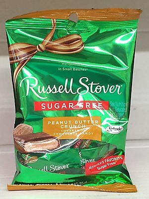 Russell Stover Sugar Free Peanut Butter Crunch Candy 3 oz