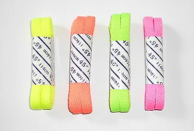 """Soccer ALL Sport Cleats LACES Neon YELLOW GREEN PINK ORANGE """"45 Softball ~NEW~"""