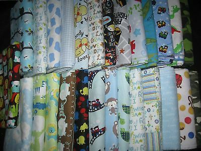 Boys 100% Cotton Flannel Receiving/Toddler Blankets