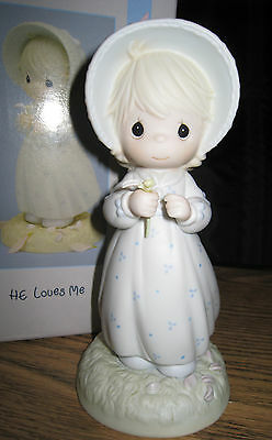 """Precious Moment  - #524263  """"HE LOVES ME"""" - Limited Edtion 1991"""