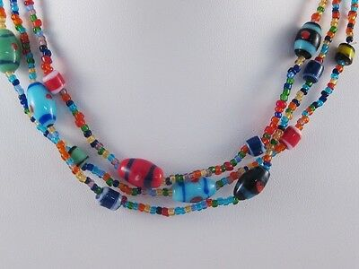 """One Dozen Wholesale Assorted 16"""" Glass Bead Necklaces #N2008-12"""
