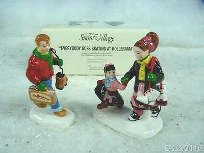 Dept 56 Snow Village Everybody Goes Skating At The Rollerama #54928 NEW (891)