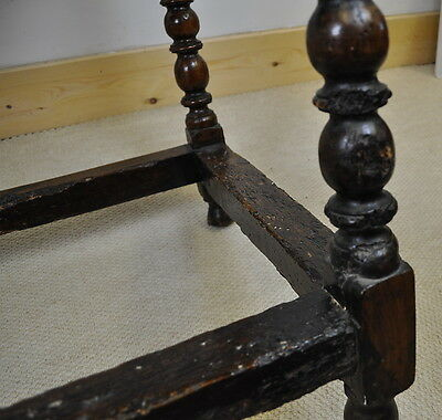 antique 17th/18th century oak side/ hall table