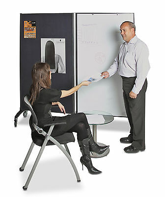*** New Double Sided Mobile  Freestanding  Office Divider + Magnetic Whiteboard