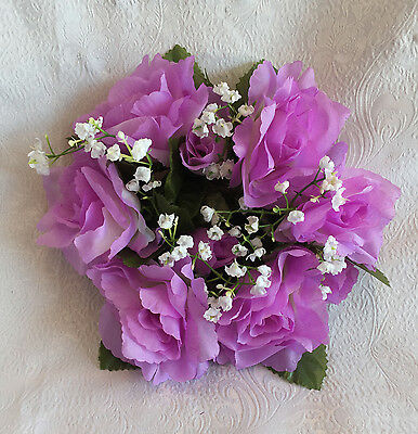 Candle Ring Rings ~ LAVENDER LILAC ~ Wisteria Silk Wedding Flowers Centerpieces
