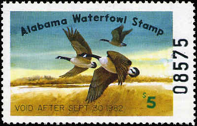 ALABAMA #3 1981 STATE DUCK CANADA GEESE by Jack Deloney