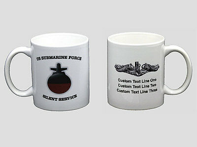 PERSONALIZED Submarine Boomer Coffee Mug SSBN USS USN NEW