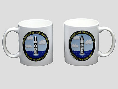 Submarine Send the Very Best Coffee Mug Dolphins SSBN SSN SS USN USS Polaris NEW