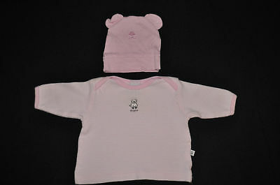Gumboots baby girl's pig tee + cute bear hat! Sz 000