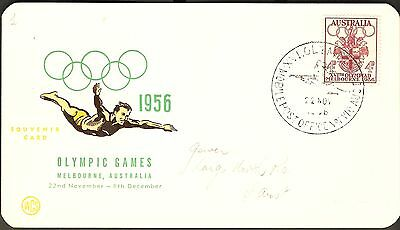 1956 Melbourne XVIth Olympic Games Wesley Souvenir Card - Rifle Shooting
