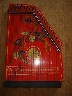 VINTAGE OLD 1960-70's GERMANY MUSIMA MARKNEUKIRCHEN ZITHER 33 STRINGS