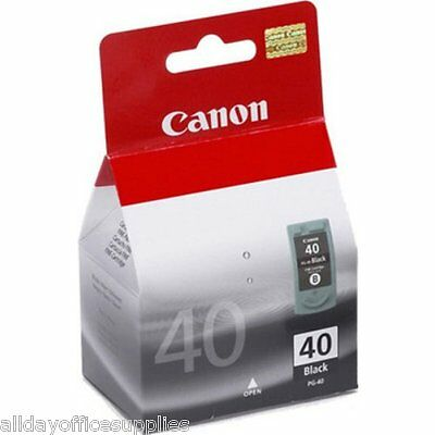 Original Canon PG-40BK / PG-40 / PG40 / PG 40 Black Ink Cartridge