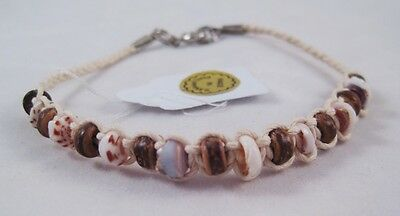 12 New Wholesale Natural Shell & Coco Bead Bracelets #B1110