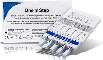 1 x Drug Testing Kit Home Urine Test 10 in 1 Cocaine Cannabis Opiates + more