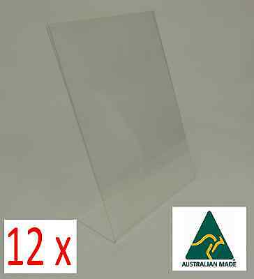 12x A4 Perspex Single Sided Menu/Sign Holders