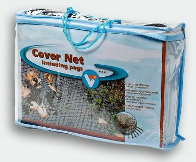 Black 6M X 5M Garden Fish Pond Cover Net Heron Cat Fox Leaves Protector + Pegs