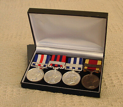 Display Case up to 4 Medals with ribbons - Choice of 4 Colours