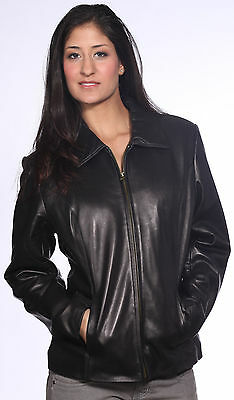 Ladies Black Short Zipper Jacket for All Occasions (A21051)