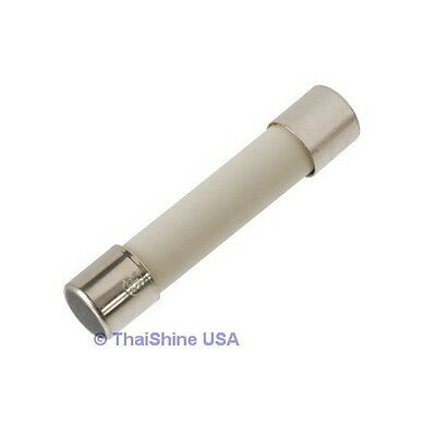 10 x Fuse Ceramic Fast Acting 8A 250V 5x20mm - USA SELLER - 4 Days Delivery!
