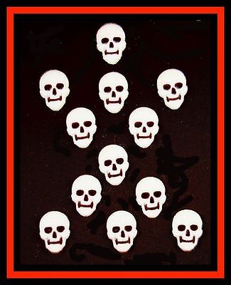 NEW! CK ***Large 1 1/4 SKULL*** 12 ct Icing Decorations - LAYONS 42407