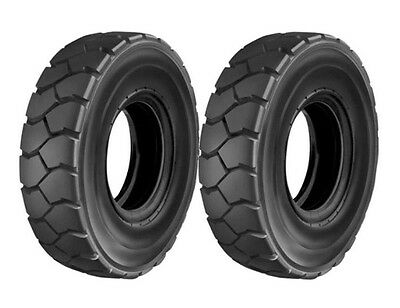 Two new 6.50-10 Forklift Truck Tires Tubes Flaps fit Cat Yale Hyster Clark